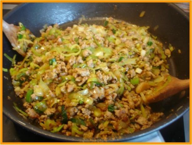 Curry-Hackfleisch-Porree-Reis-Pfanne - Rezept - Bild Nr. 11
