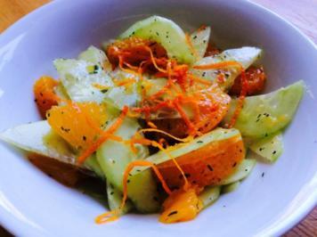Mandarinen-Gurken Salat - Rezept