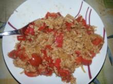Reis mit Tomaten-Paprika-Gemüse - Rezept
