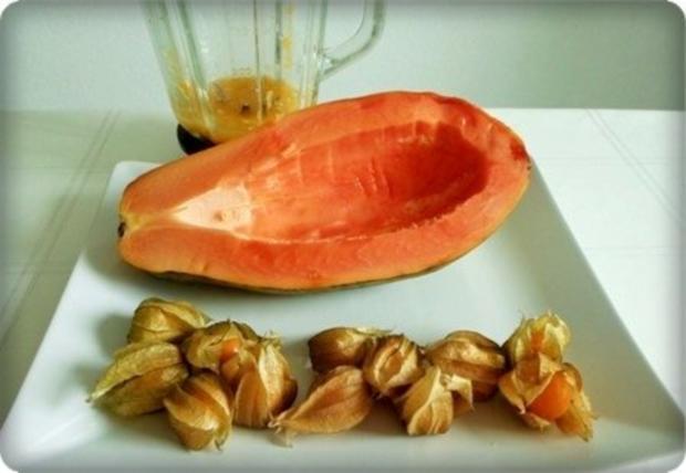 Papaya – Physalis – Smoothie - Rezept - Bild Nr. 7