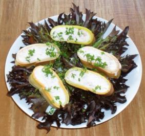 Rezept: Lasagneröllchen mit Krabbencreme