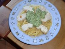 Spaghetti mit Limettenpesto und Hähnchen - Rezept