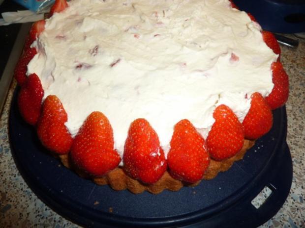 Torten: Erdbeertorte mit Schmand - Rezept - Bild Nr. 3