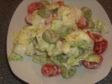 Gemischter Salat mit Weintrauben - Rezept