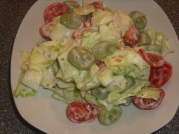 Rezept: Gemischter Salat mit Weintrauben