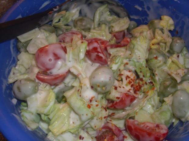 Gemischter Salat mit Weintrauben - Rezept - Bild Nr. 4