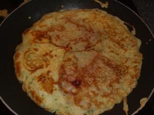 Pfannekuchen mit Salami und Käse - Rezept