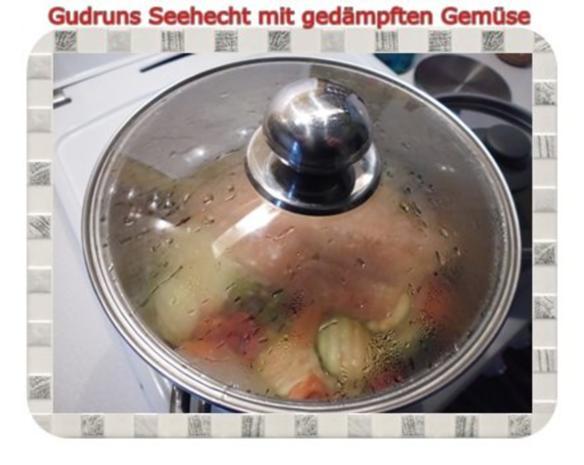 Fisch: Seehecht mit gedämpften Gemüse und Tomatensoße - Rezept - Bild Nr. 11