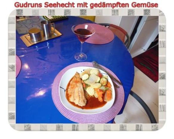 Fisch: Seehecht mit gedämpften Gemüse und Tomatensoße - Rezept - Bild Nr. 14