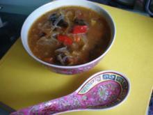 Asia: Chinasuppe scharf-sauer - Rezept