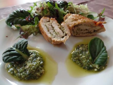 Putenröllchen mit selbstgemachter Pesto - Rezept