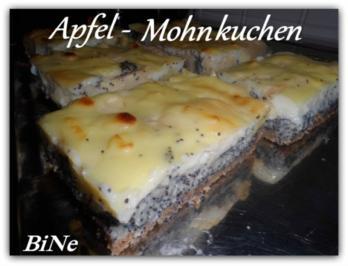 Rezept: BiNe` S APFEL - MOHNKUCHEN