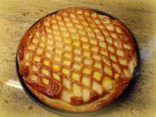 Hefeteig-Grieß-Tarte - Rezept
