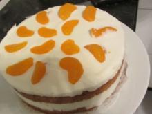 Käse-Sahne-Torte mit Mandarine - Rezept