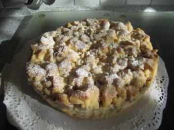 Rhabarberkuchen mit Vanillecreme - Rezept