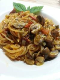 One-Pot-Pasta mit Champignons - Rezept