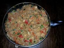 Scharfe Hähnchen-Reis-Pfanne - Rezept
