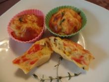Herzhafte Muffins Tricolore - Rezept