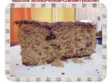 Kuchen: Schoko-Kokos-Cranberrykuchen - Rezept