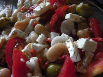 Mediterraner Bohnensalat - Rezept