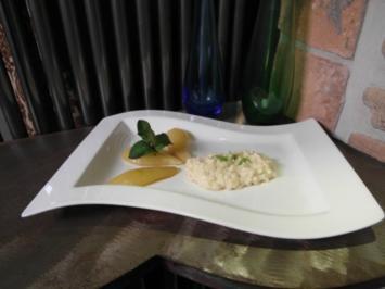 Zitronengras-Milchreis mit Zimtbirnen - Rezept