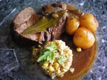 Wildschweinbraten mit Lorbeer - Rezept
