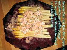 Gemüse – Bozener Sauce auf Rote Bete-Carpaccio mit gebratenem weißen Spargel - Rezept
