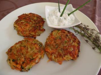 Kartoffel -Gemüse-Rösti mit Joghurt -Dip - Rezept