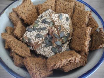 Knoblauch - Knäckebrot - Rezept