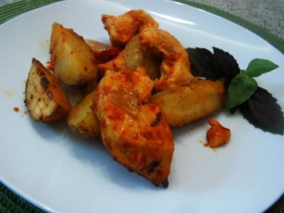 Ajvar- Ofenhähnchenbrust - Rezept