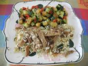 Vegan aus dem Wok : Seitan - Reis - Rezept