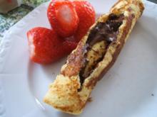 Dessert: Bananenomelett mit Schokocreme oder Ahornsirup - Rezept