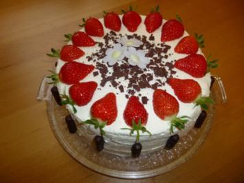 Erdbeer-Erfrischungsstäbchen-Torte - Rezept