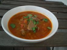 Tomatensuppe aus ALGERIEN (mit Lamm und Minze) - Rezept