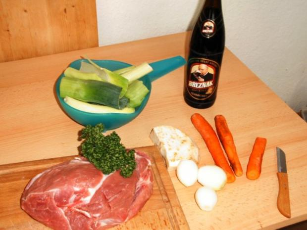 Schweinebraten in Schwarzbiersoße - Rezept