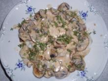 Heilbuttfilets mit Champignons - Rezept