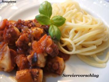 Fisch: Sepia in Tomatensoße - Rezept