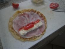 Pfannkuchen mit Schinken-Käse-Füllung - Rezept