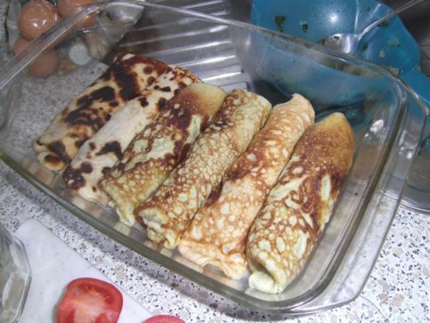Pfannkuchen mit Schinken-Käse-Füllung - Rezept - Bild Nr. 3