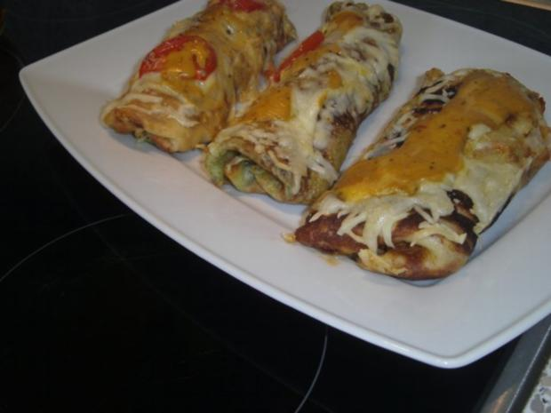 Pfannkuchen mit Schinken-Käse-Füllung - Rezept - Bild Nr. 5
