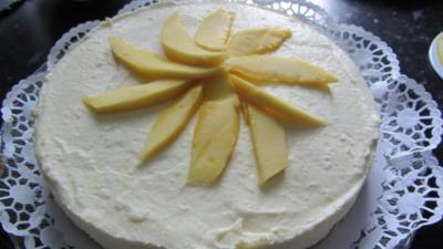 Mango-Kuchen ohne backen - Rezept
