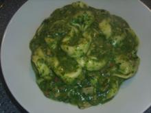 Tortelini in grüner reste Soße - Rezept