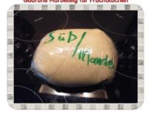 Kuchen: Mürbeteig für Obstkuchen mit Mandelaroma - Rezept
