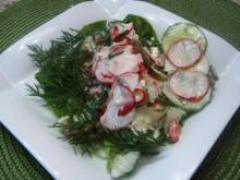 Radieschen-Gurkensalat - Rezept