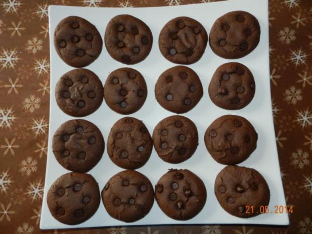 Triple Chocolate Cookies - Rezept