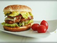 XXL- Burger mit saftigem Minuten Steak - Rezept