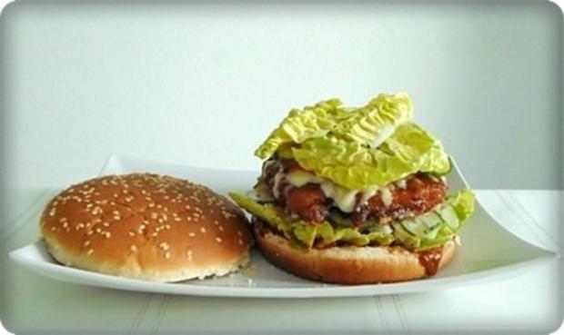 XXL- Burger mit saftigem Minuten Steak - Rezept - Bild Nr. 15