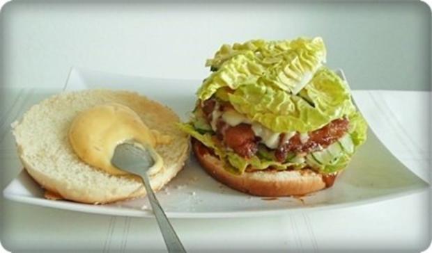 XXL- Burger mit saftigem Minuten Steak - Rezept - Bild Nr. 16