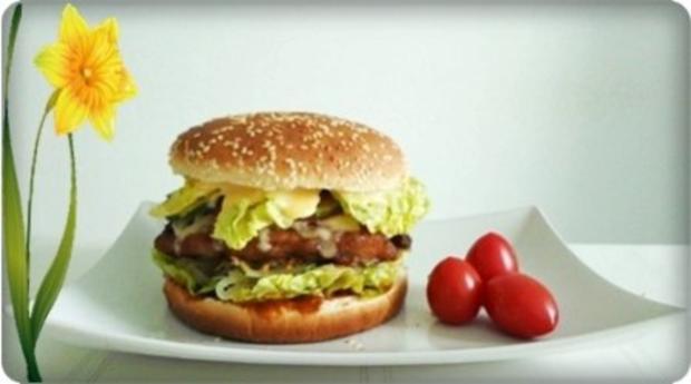 XXL- Burger mit saftigem Minuten Steak - Rezept - Bild Nr. 19
