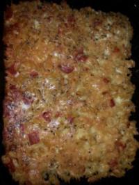 Frittada di pasta - Nudelomelett mit Käse - Rezept